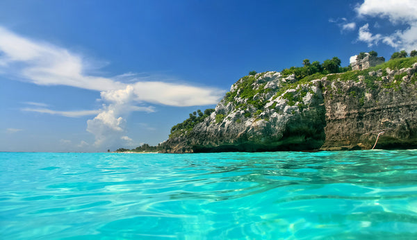 Tulum's crystal clear water.