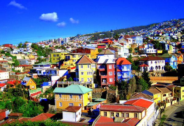 Valparaíso is considered the most colorful city in the world.