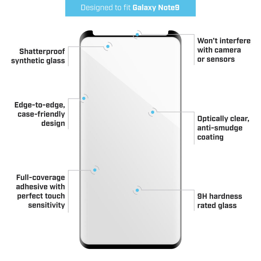 BodyGuardz PRTX ARC Shatterproof Glass Protector for Galaxy S9 Plus