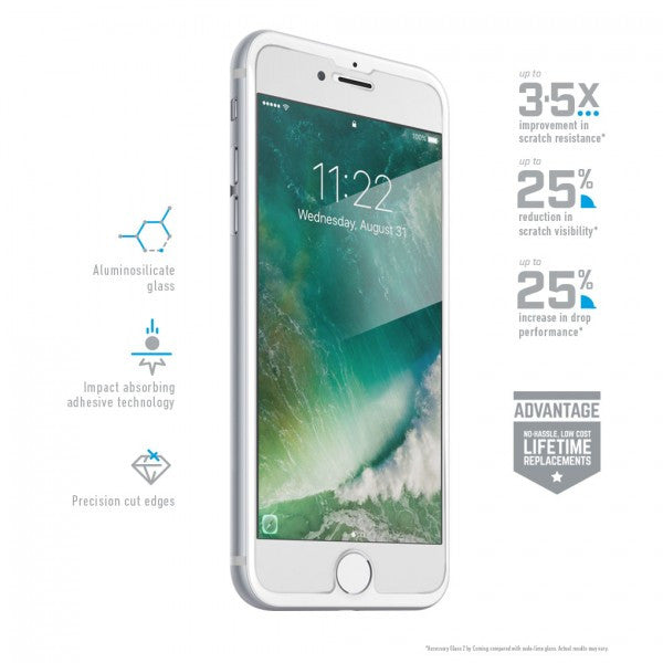 BodyGuardz Pure2 Glass Screen Protector for iPhone 6/7/8
