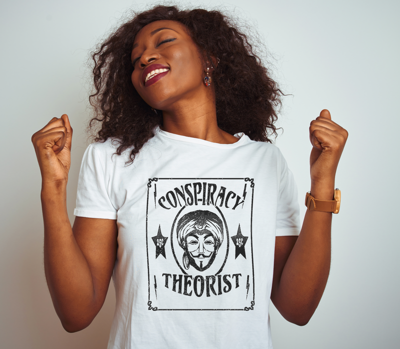 Conspiracy Theorist T Shirt | Zoltar | Guy Fawkes | Anonymous