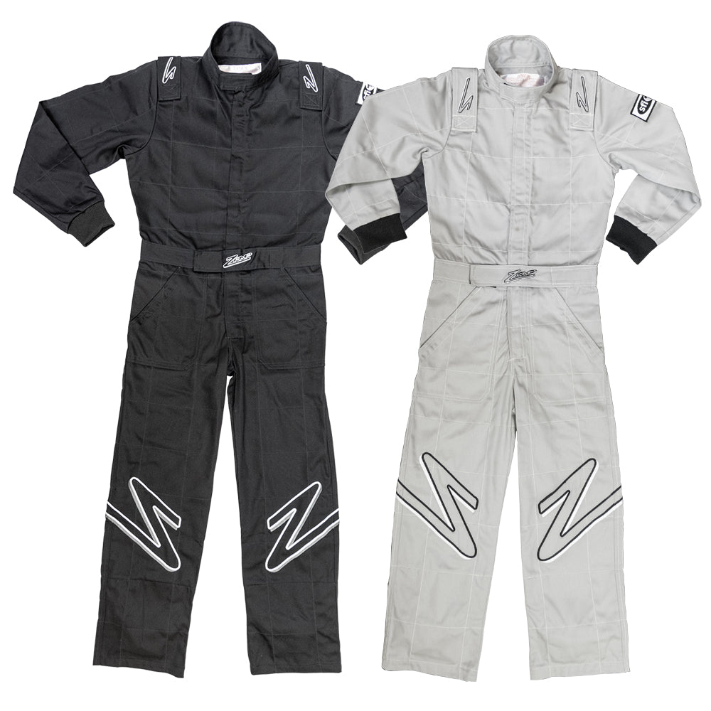 Zamp Youth ZR-10 SFI 3.2A/1 Single Layer Race Suit Black or Gray