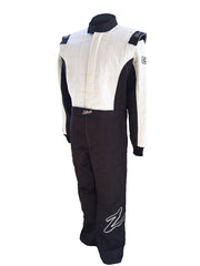 Zamp ZR-30 SFI 3.2A/5 Three Layer Race Suit Black/White Small