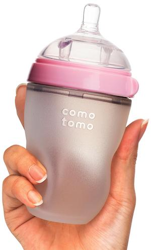 Comotomo Natural Feel Baby Bottle 250ml Twin Pack - PINK