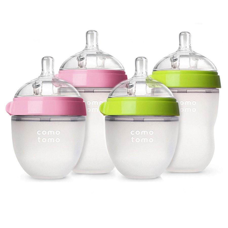Comotomo Natural Feel Baby Bottle 150ml Twin Pack - PINK