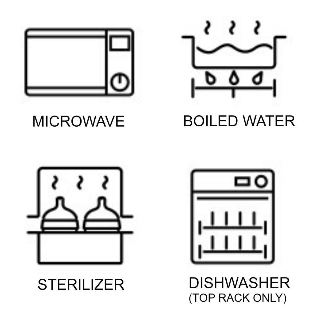Comotomo safe in Microwave, dishwasher, boiled water, steriliser