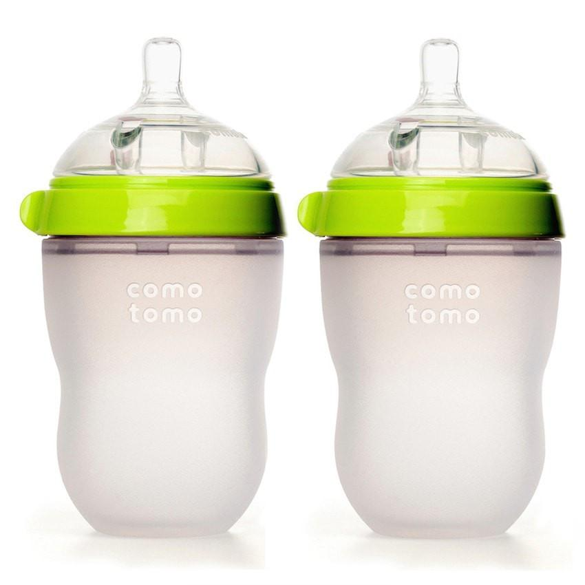 Comotomo 250ml Twin Pack Green