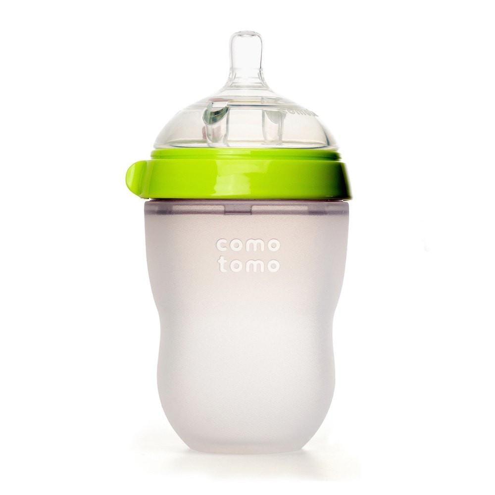 Comotomo Green Silicone Baby Bottle 250ml