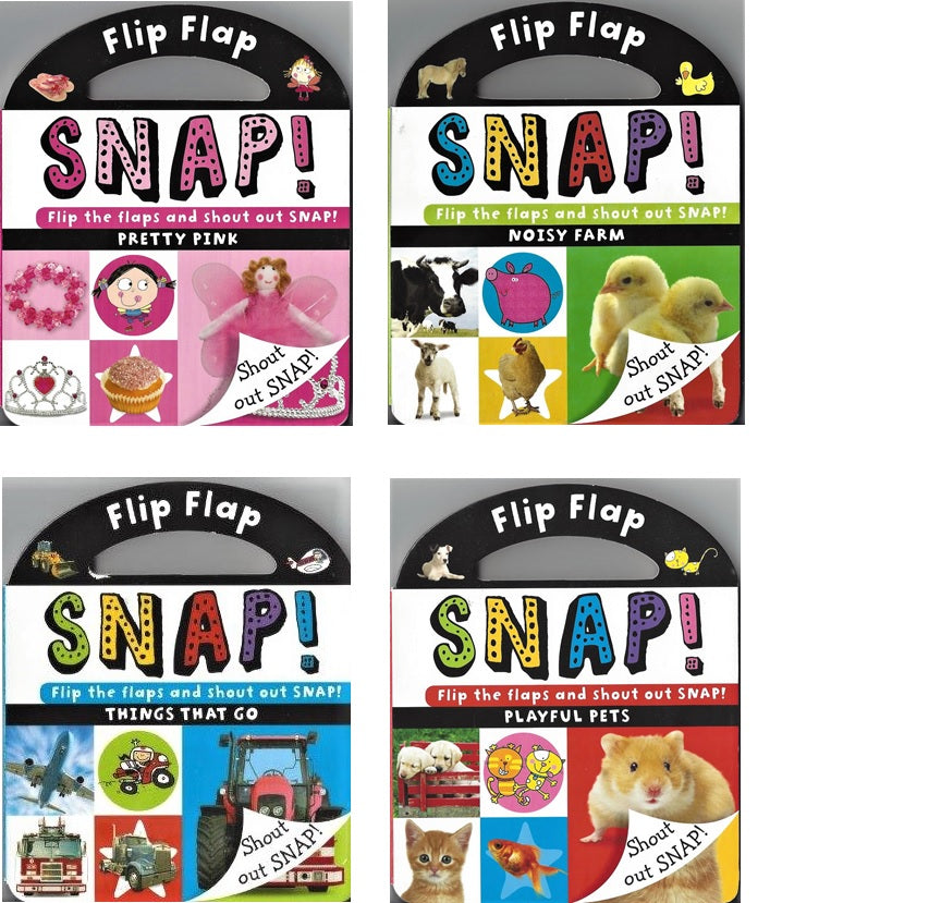 Flip Flap Snap! Board Book Collection - 4 books