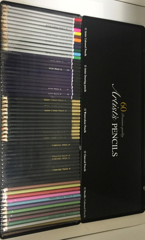Artists Pencils - 60 Premium Quality Pencils