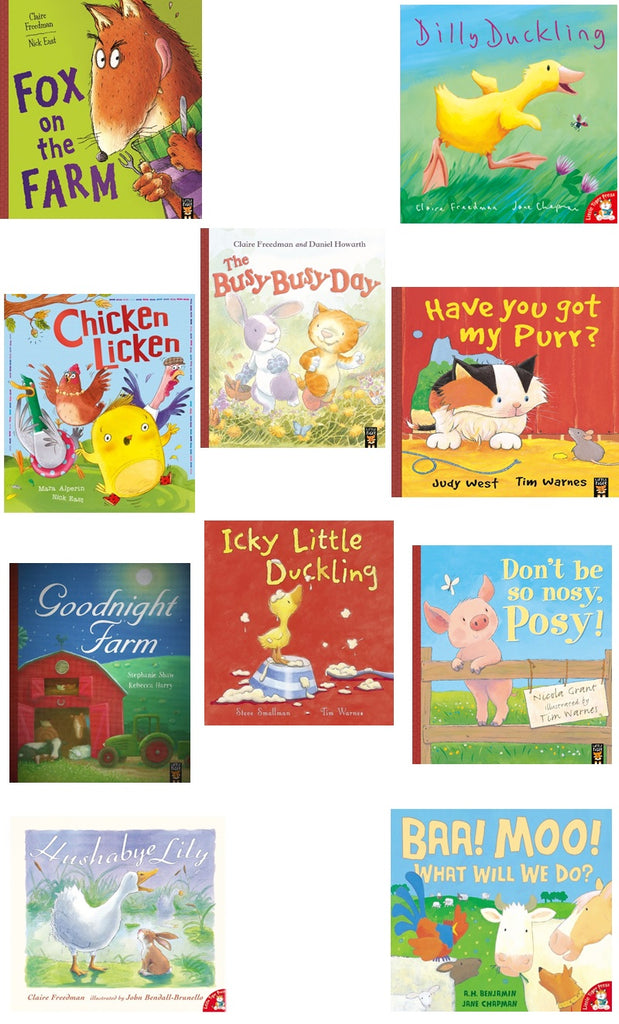 FARMYARD FRIENDS COLLECTION - 10 STORYBOOK PACK