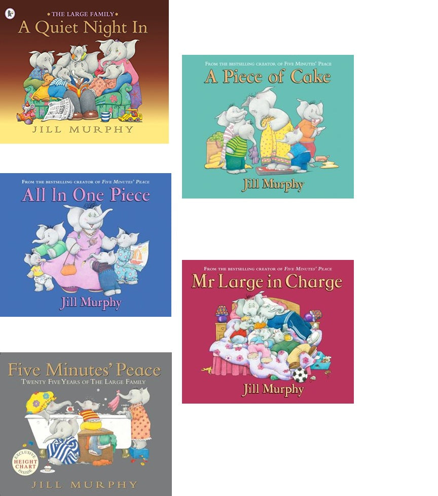 THE LARGE FAMILY COLLECTION - 5 STORYBOOK SET - AVAILABLE LATE AUGUST