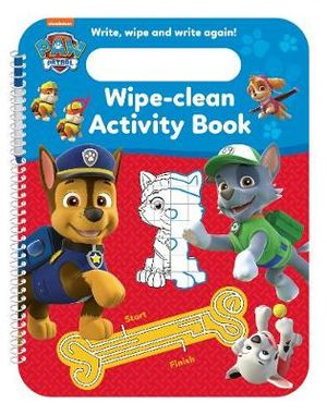 PAW PATROL WIPE-CLEAN ACTIVITY BOOK & PEN