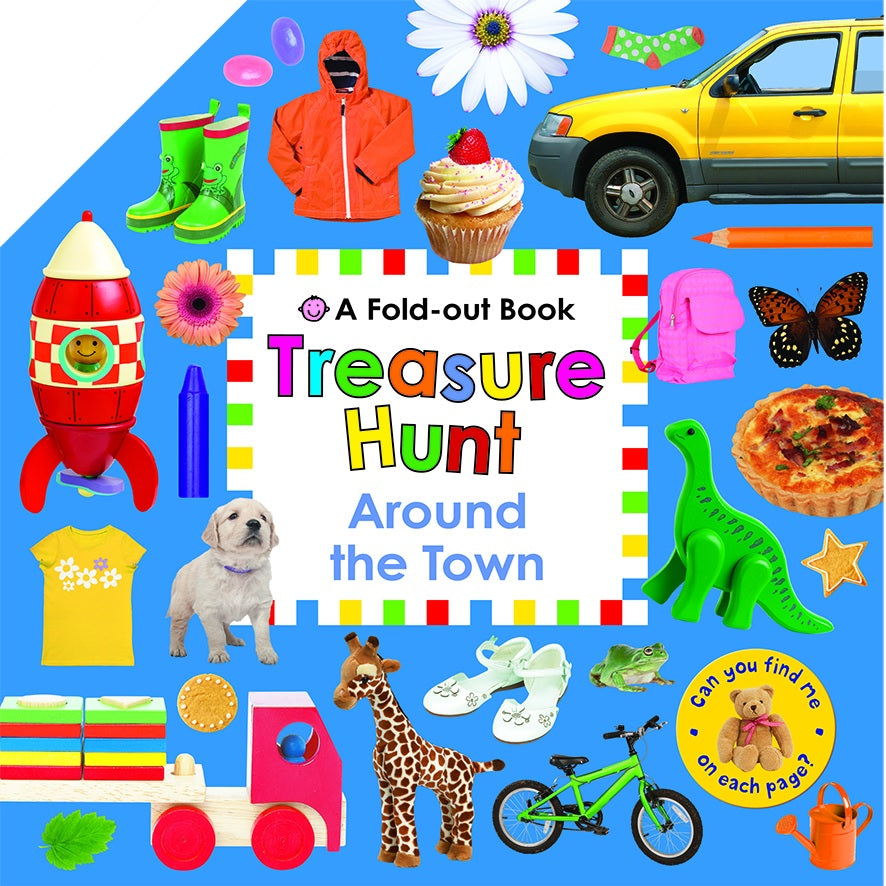 TREASURE HUNT AROUND THE TOWN - A FOLD-OUT BOOK
