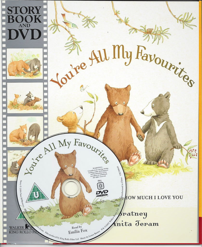 YOU'RE ALL MY FAVOURITES STORYBOOK & DVD - SAM MCBRATNEY