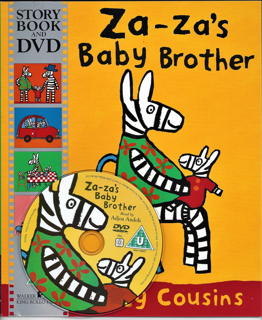 ZA-ZA'S BABY BROTHER STORYBOOK & DVD - LUCY COUSINS