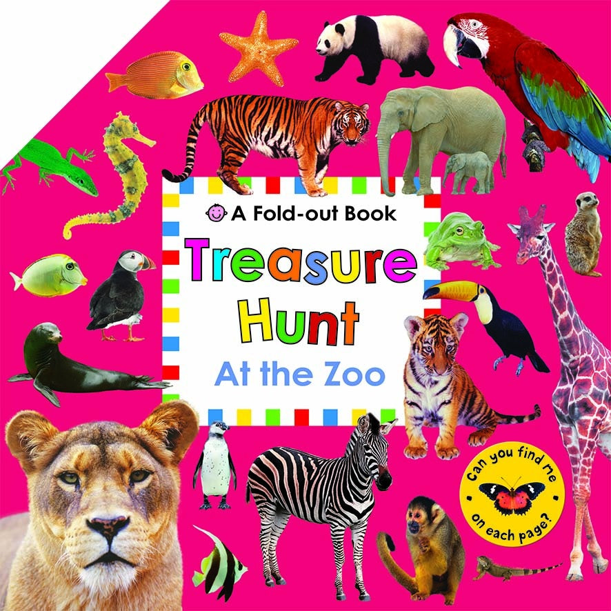 TREASURE HUNT AT THE ZOO - A FOLD-OUT BOOK