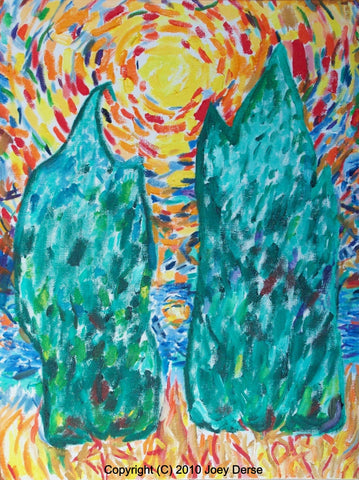 Limited edition Giclee of Joey Derse's Cedar Trees #5