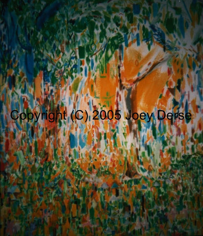 Limited edition Giclee of Joey Derse's Flowers and Trees
