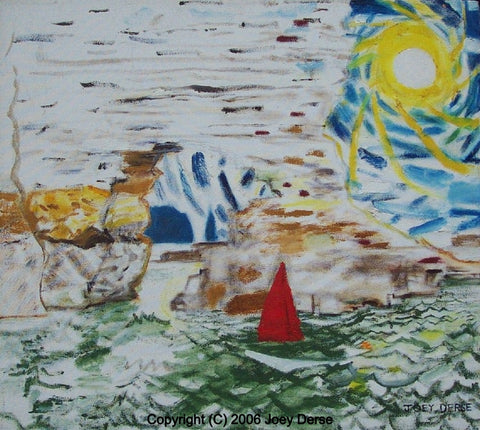 Limited edition Giclee of Joey Derse's Sailboat in the Sun
