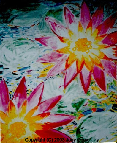 Limited edition Giclee of Joey Derse's Water Lilies