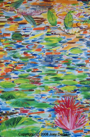 Limited edition Giclee of Joey Derse's Water Lilies #11