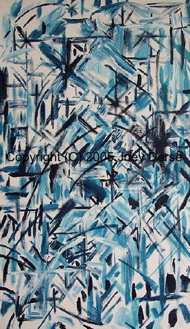Limited edition Giclee of Joey Derse's Blue Confetti #6