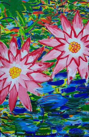 Limited edition Giclee of Joey Derse's Water Lilies #5