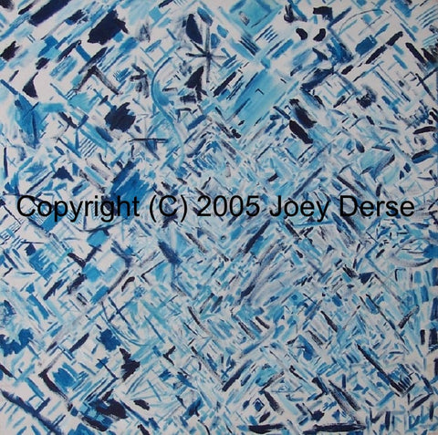 Limited edition Giclee of Joey Derse's Blue Confetti #3