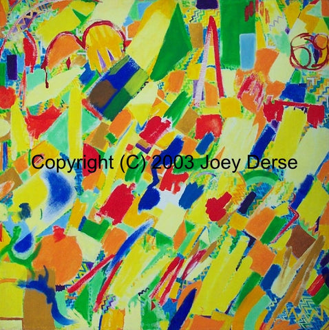 Limited edition Giclee of Joey Derse's Confetti