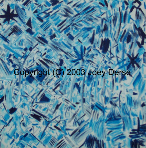 Limited edition Giclee of Joey Derse's Blue Confetti #2