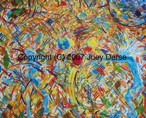 Limited edition Giclee of Joey Derse's Dancing Spirits