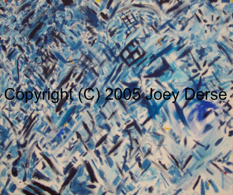 Limited edition Giclee of Joey Derse's Blue Confetti