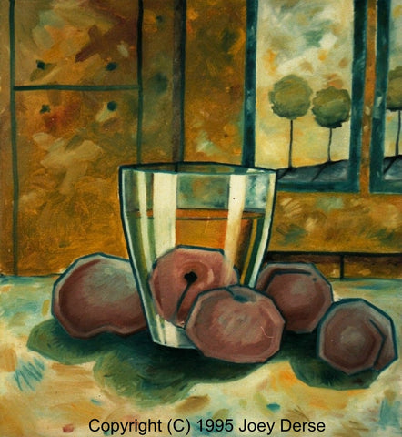 Limited edition Giclee of Joey Derse's Chillin' Plums