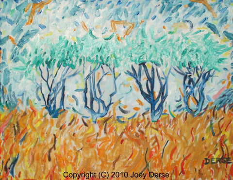 Limited edition Giclee of Joey Derse's Olive Trees #4