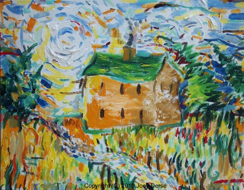 Limited edition Giclee of Joey Derse's Ramshackle House
