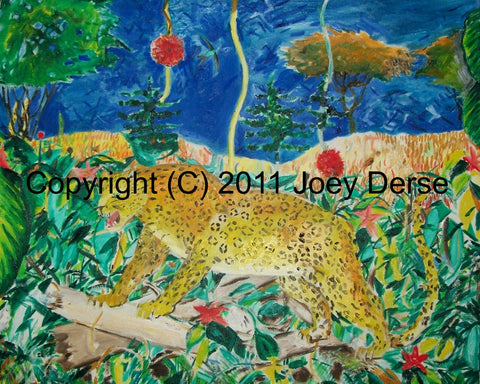 Limited edition Giclee of Joey Derse's Jagaur