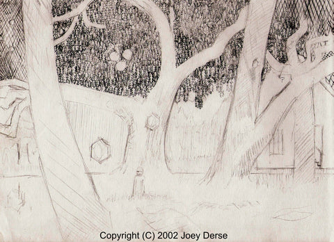 Limited edition Giclee of Joey Derse's Through the Splitting Sunlight