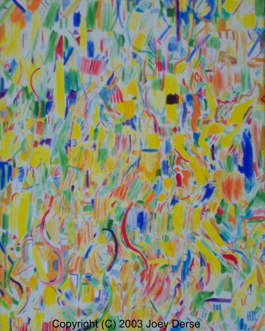 Limited edition Giclee of Joey Derse's Confetti #8