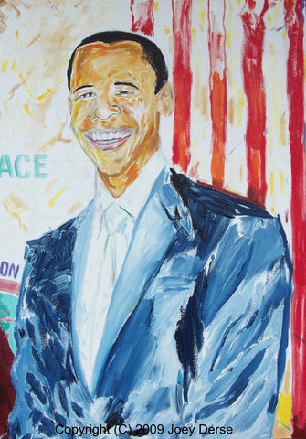 Limited edition Giclee of Joey Derse's President Obama