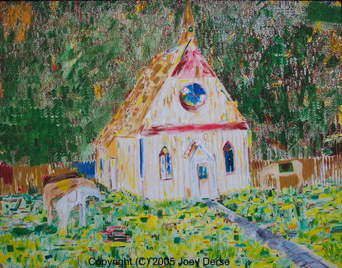 Limited edition Giclee of Joey Derse's Church Sketch