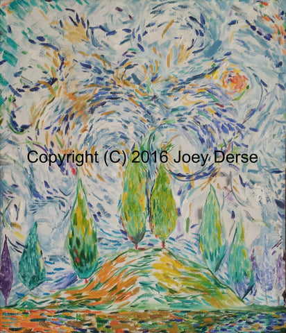 Limited edition Giclee of Joey Derse's Cedar Trees #7