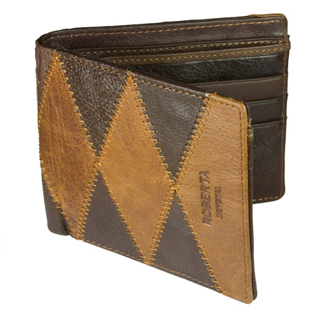 Roberta Ropela Patch Leather Wallet