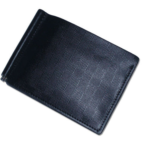 Lizzi Black Leather Wallet with a Money Clip