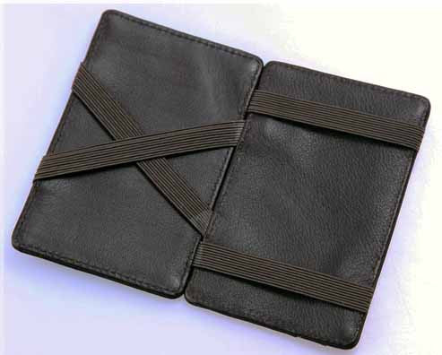 Black Leather Magic Wallet