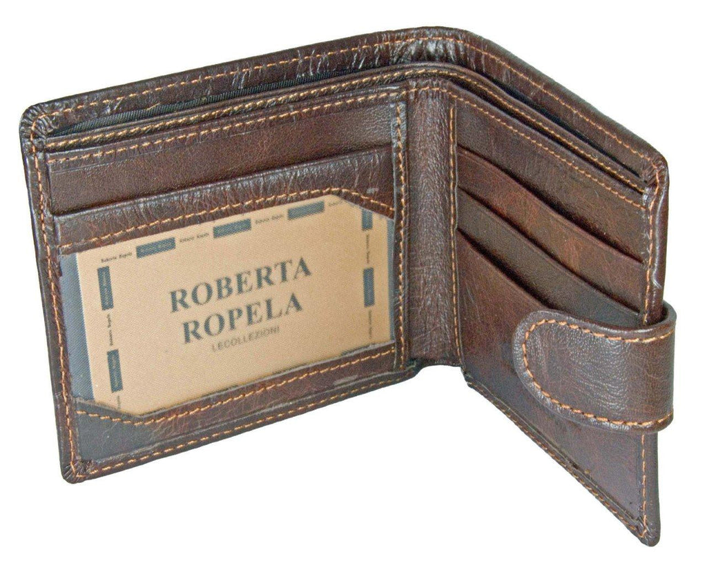 Roberta Ropela Brown Leather Wallet