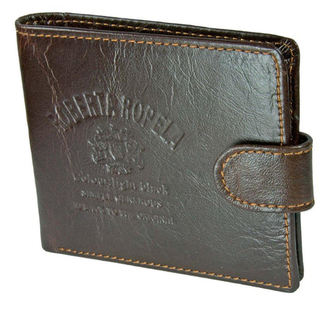 Roberta Ropela Brown Leather Wallet with Button