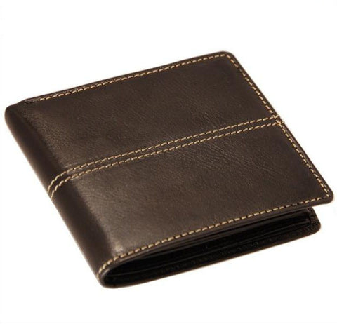 Genuine Italian leather brown men's wallet