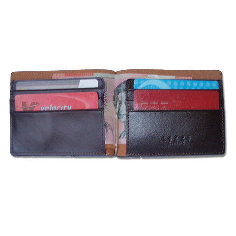 Lizzi Brown Leather Wallet with a Money Clip