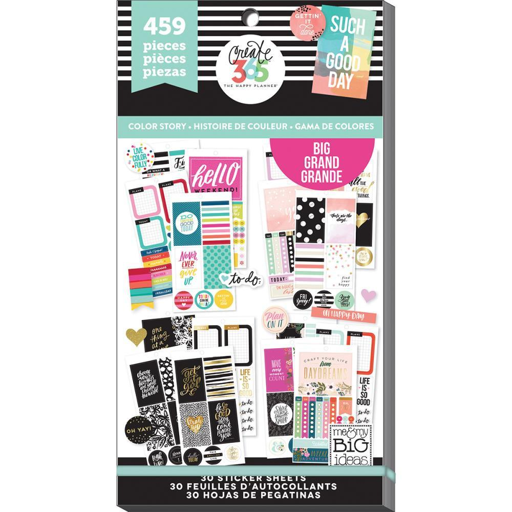 Create 365 happy planner sticker value pack big color way